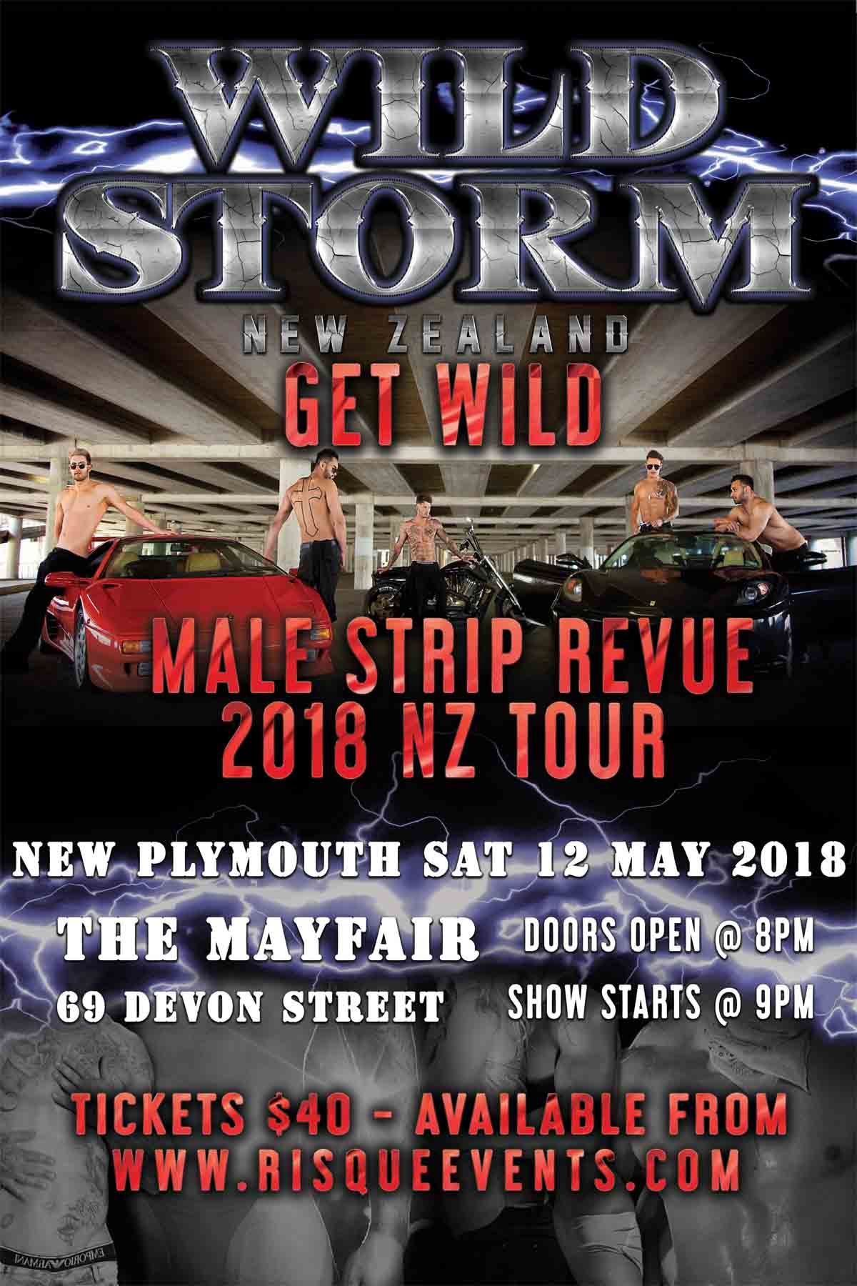 Wild Storm Male Revue - New Plymouth